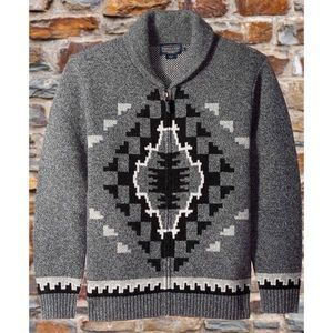 Pendleton Mens Jacquard Shawl Cardigan Sweater